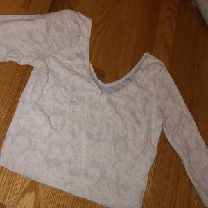 Abercrombie and Fitch white lace crop top